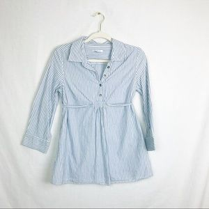 Maternity - Gap blue and white striped blouse